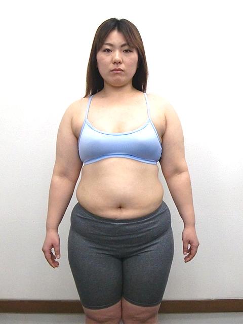 3か月 体重-9㎏!ウエスト-14cm!ビフォア写真
