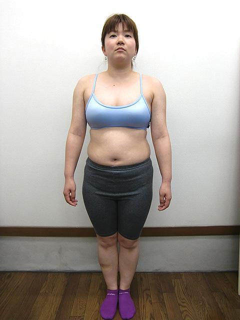 3か月 体重-5㎏!ウエスト-12cm!ビフォア写真