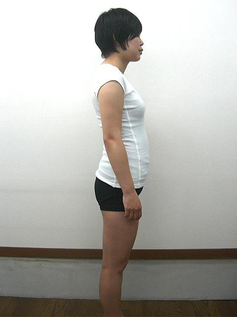 3か月 体重-3.4kg!ウエスト-7cm!ヒップ-5cm!ビフォア写真
