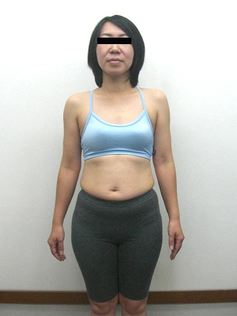 4か月 体重-5.1kg!ウエスト-10cm!ヒップ-9cm!ビフォア写真