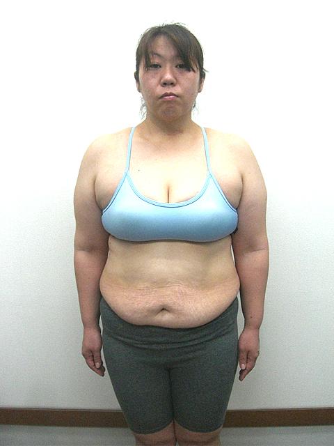 4か月 体重-11kg!ウエスト-19cm!ヒップ-10cm!ビフォア写真